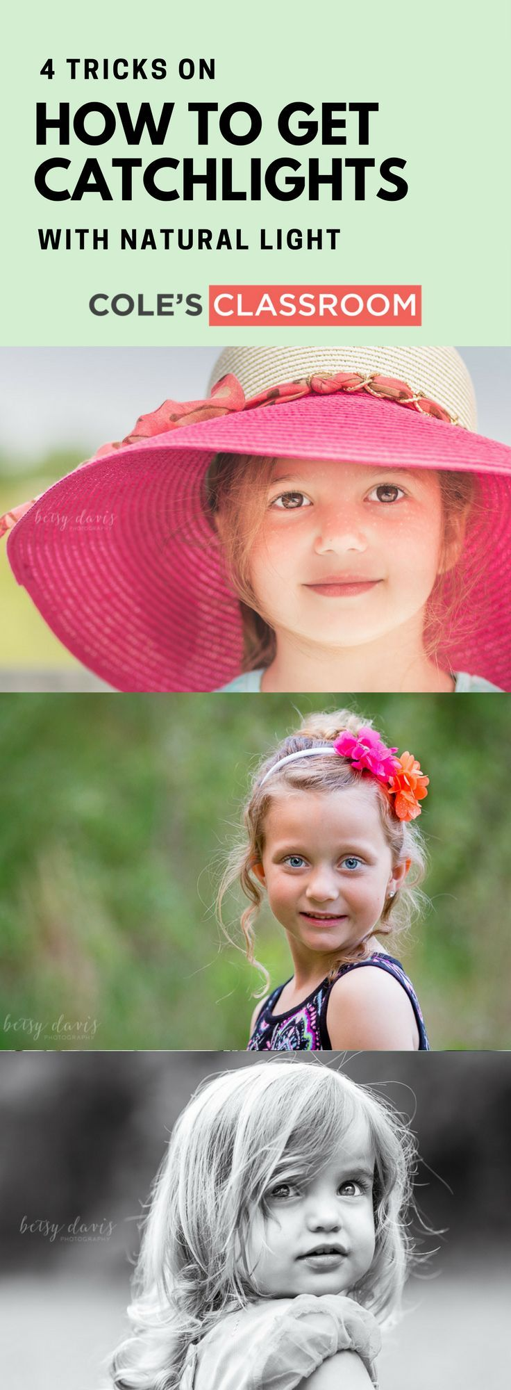 PHOTO TIPS & TECHNIQUE: 4 Tricks on How to Get Catchlights with Natural Light. Find more at: https://www.colesclassroom.com/4-tricks-get-catchlights-natural-light/