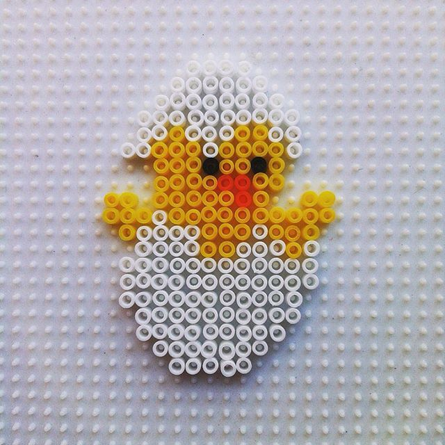 Easter chick hama beads by  hadavedre