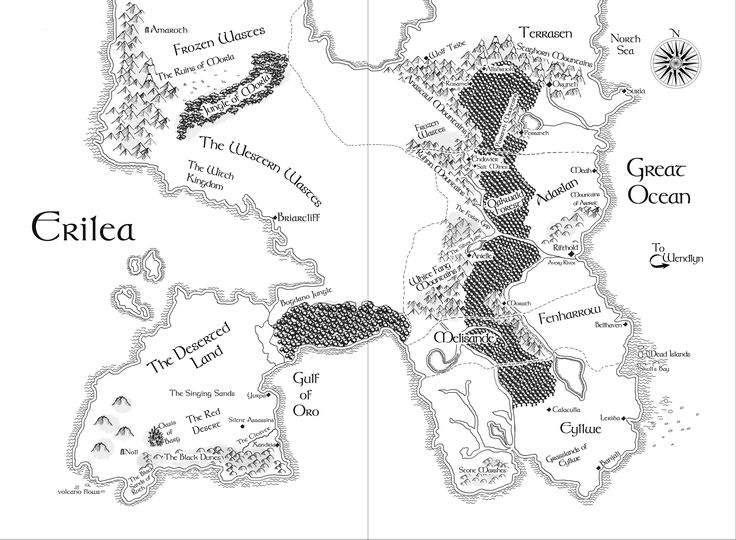 Map of The Throne of Glass (Sarah J. Maas)