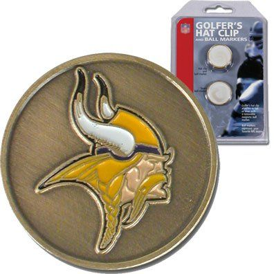 Mcarthur Nfl Hat ClipBall Markers Minnesota Vikings ** Check this awesome product by going to the link at the image.