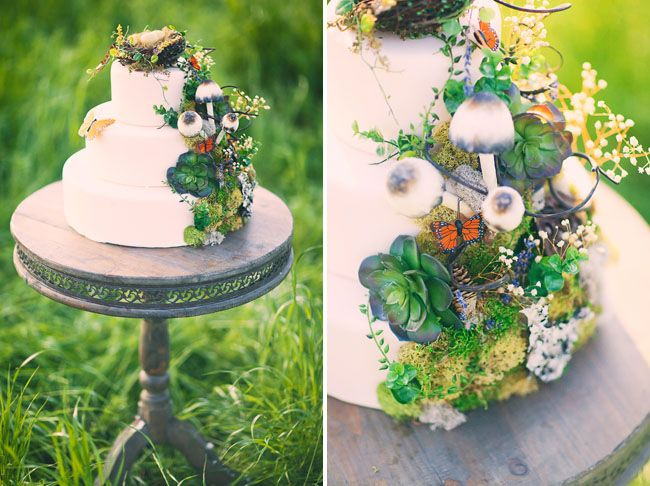 Country inspired wedding cake