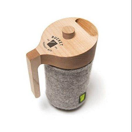 The Portland Press is a French press for a Mason jar, made in and around Portland, Oregon. It's a simple, clean, practical design made out of fundamental materials: glass, wool, steel, and wood. Most importantly, if the Mason jar does break, replacing it is as simple as pulling a new jar out of a box. Available at Walmart.com.