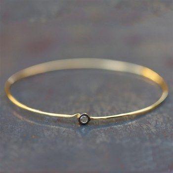Bracelet Ross diamant rose cut et vermeil par la marque 5 Octobre pour l'Atelier des Bijoux Créateurs.