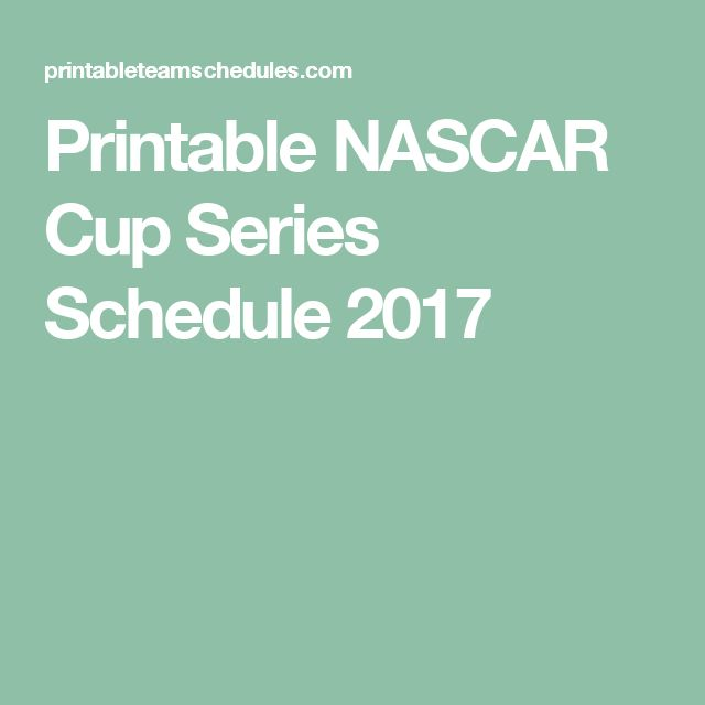 nascar schedule for 2017 tickets