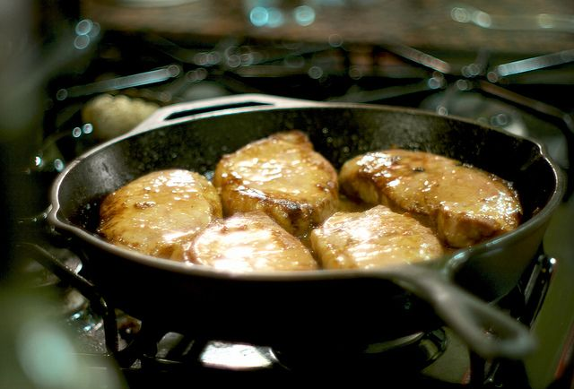 Kenchy's Miso Glazed Boneless Pork Loin Chops