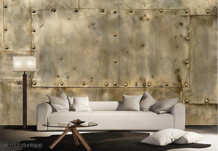 Riveted Metal (Copper) | Buy Prepasted Wallpaper Murals Online - Muralunique.com