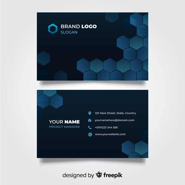 Download Abstract Geometric Business Card Template For Free Business Card Template Free Business Card Templates Business Card Design
