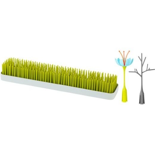 Boon Patch and Stem and Twig, Green + Blue/Orange + Gray