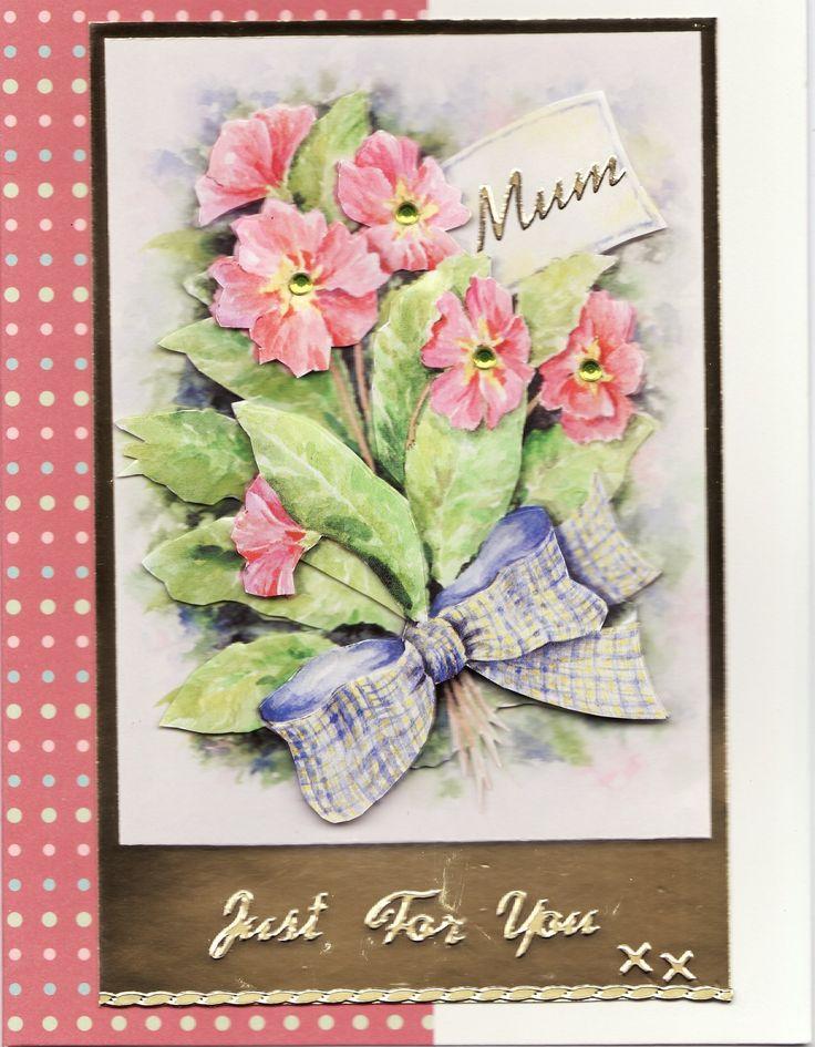 3D 'Just for You Mum xx' Card (Tassie Scrapangel)