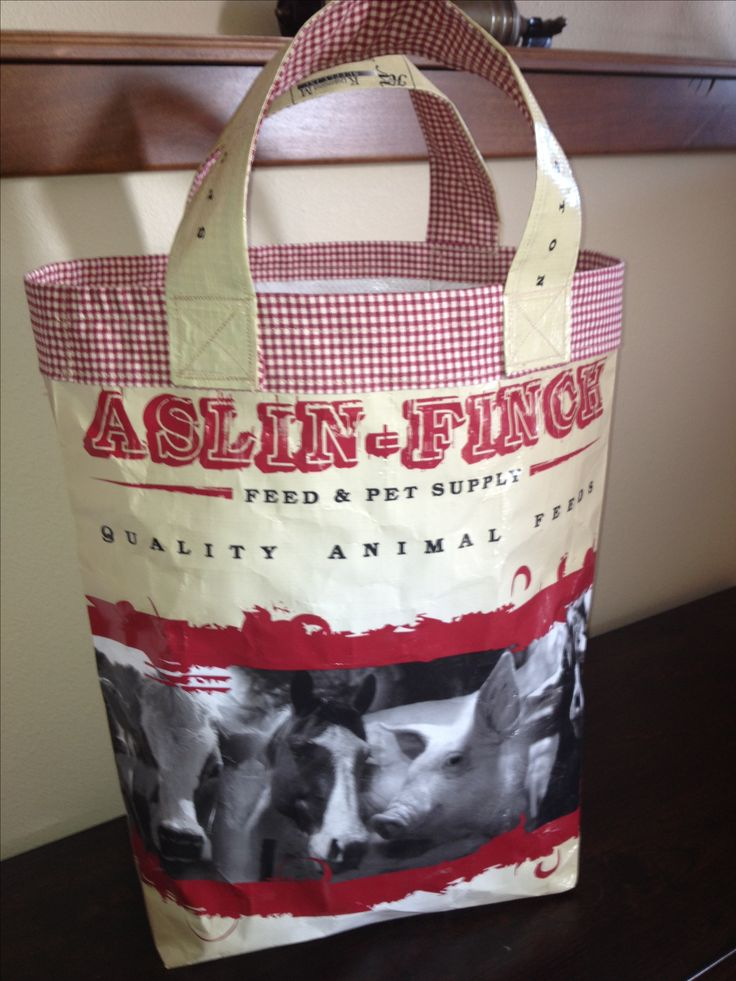 Farmhouse Feed Bag Tote $19. Made from recycled feed bags. No two are the same. This is a handmade item.