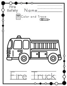 Preschool Printables: Fire Safety Printable No Prep
