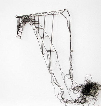 Elodie Antoine: Arquitectura a puntadas de hilo negro