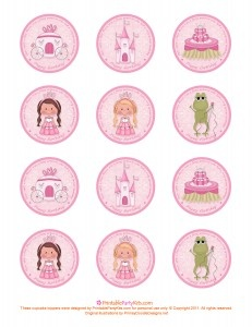 Free Printable Princess Birthday Cupcake Toppers