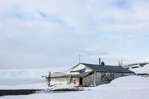 Scotts Hut on Ross Island AntarcticaIt was built in 1911 by...
