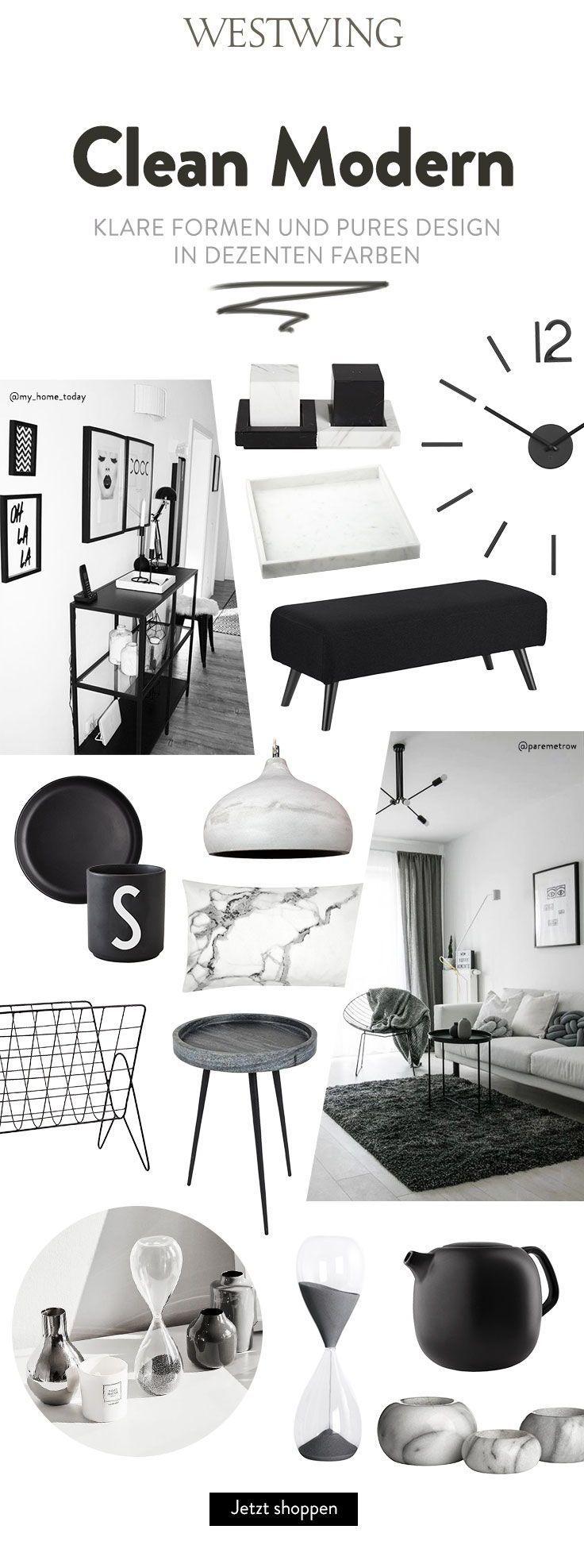 CLEAN MODERN – Klare Formen und pures Design in Dezenten Farben! Mit diesen Inte