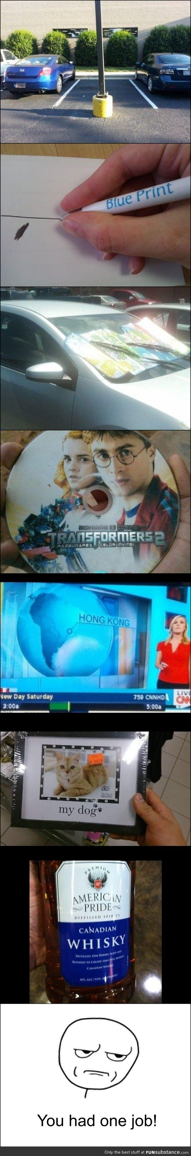 You had one job! Although is anyone else thinking what a Harry Potter/Transformers crossover would be like.