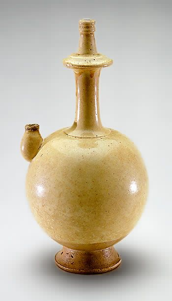Water ewer China Tang dynasty (700–800) Stoneware with white slip under colorless glaze
