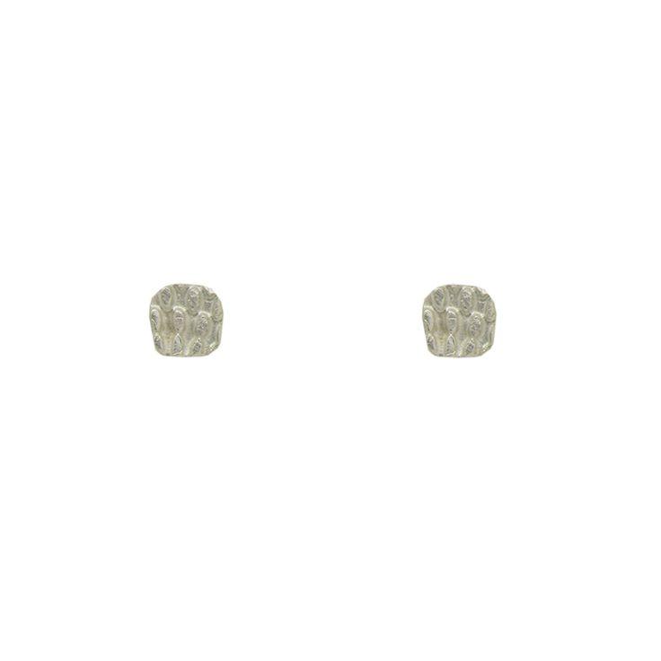 Textured Square Stud Earrings