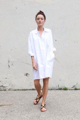 White Shirt Dress, Minimal Style, Minimal + Chic | @codeplusform