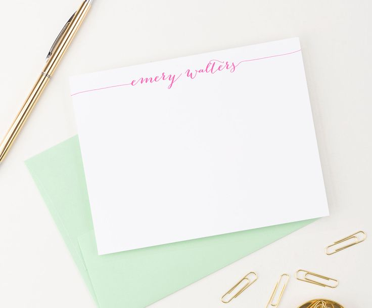 Stylish Calligraphy Personalized Stationery