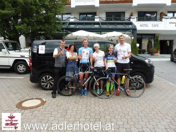 Die Teilnehmer der Radsporttage 2017 als Gäste im Aktiv Hotel Schwarzer Adler