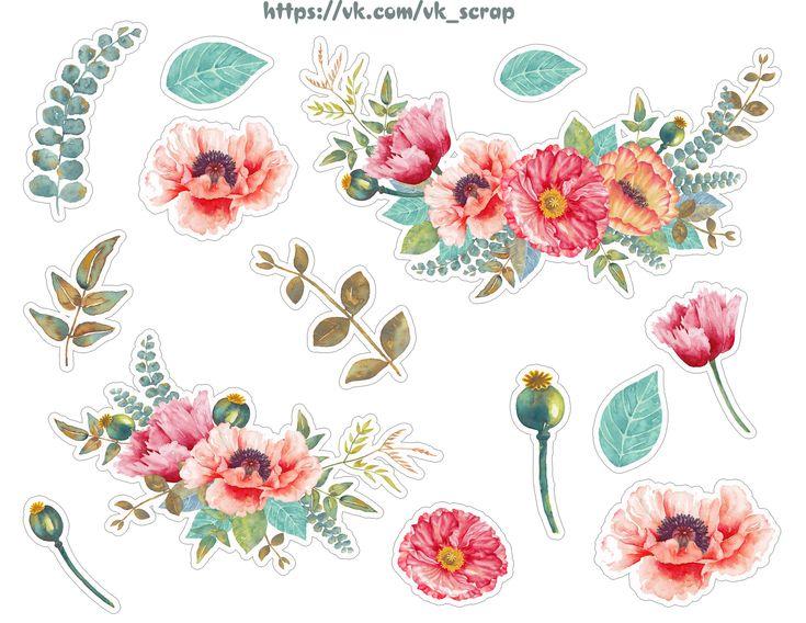 Картинки с цветами, высечки