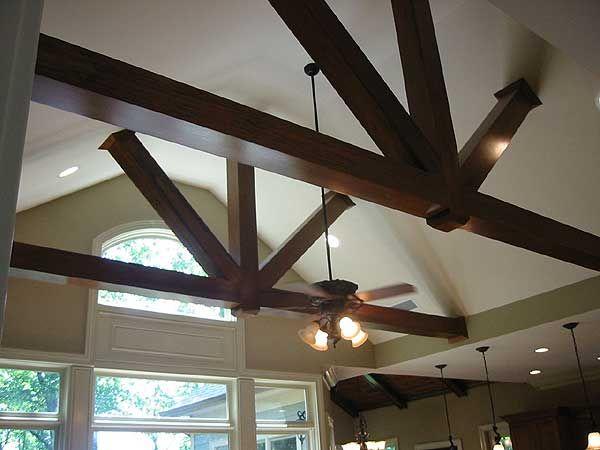 Great Room Beams in Rustic House Plan 29830RL