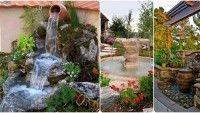 Bahçe ve teras için şelale tasarımları