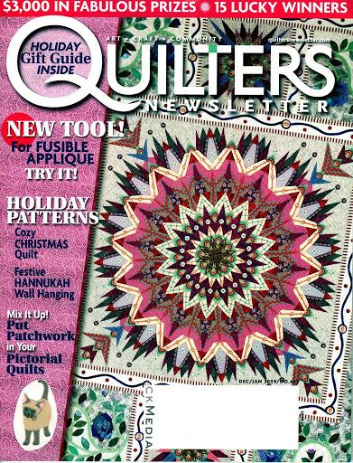 Quilters Newsletter December January 2009 dutch circus part 2 of 2 bom