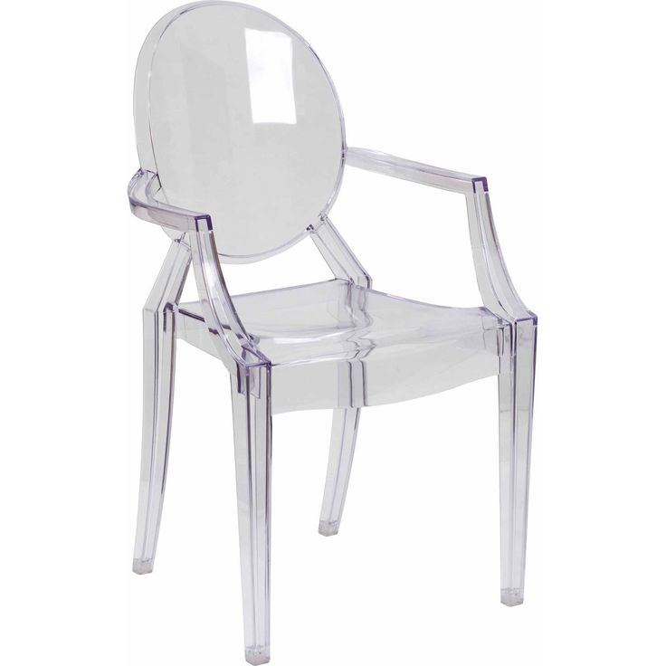 Flash Furniture Ghost Chair with Arms, Transparent Crystal - Walmart.com