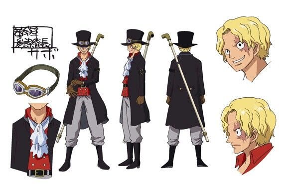 Character Design One Piece : Sabo one piece film gold character design