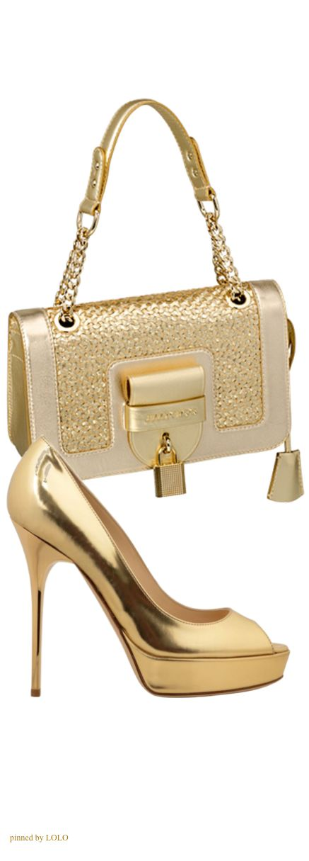 Lodička a kabelka * zdobená zlatá kůže More