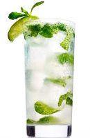 Recette Cocktail Mojito. ►rhum cubain ►jus de citrons verts ►menthe ►eau gazeuse (perrier, salvetat) ►sirop de sucre de canne l