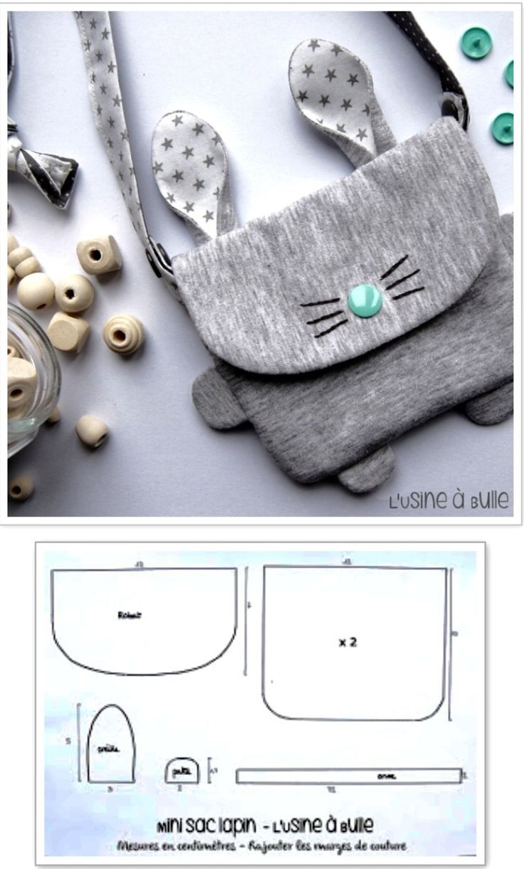 bolso de conejito pequeño / patrón de costura