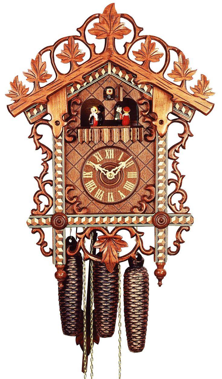 Reloj de cuco estilo antiguo movimiento mecánico de 8 días 46cm de Rombach & Haas