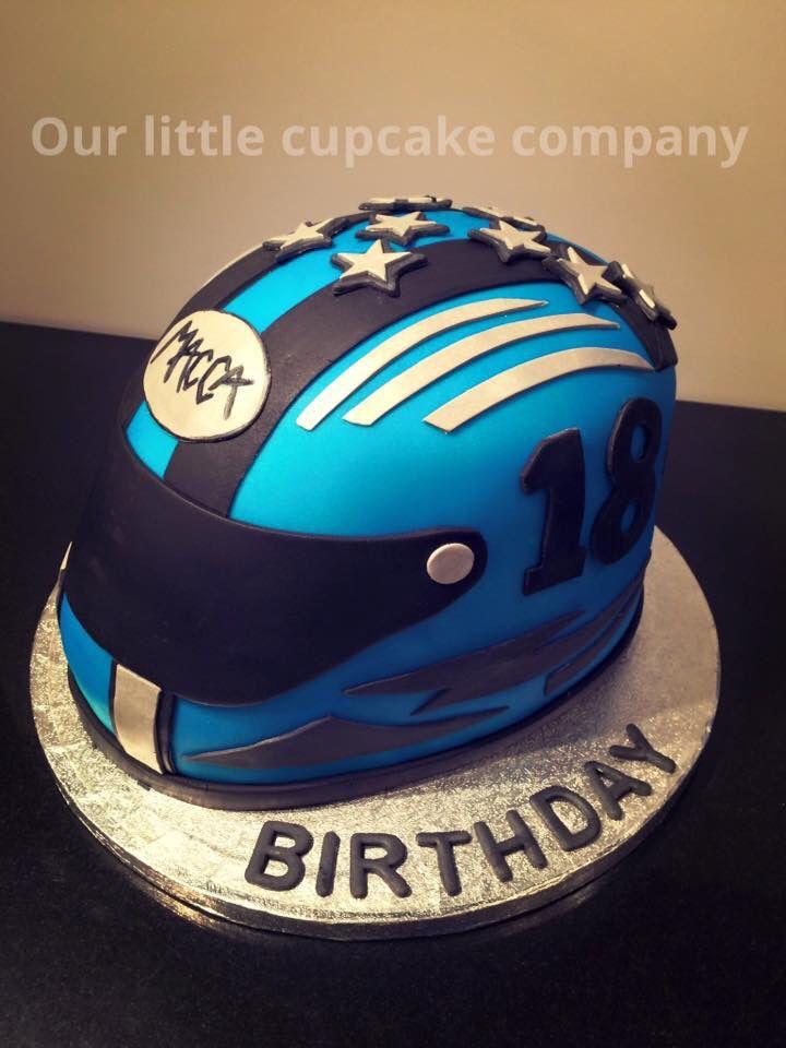 Motor bike helmet cake