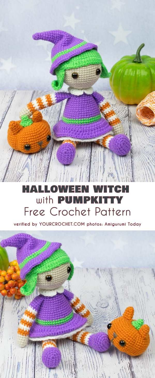 Wee Witch Amigurumi Free Pattern ⋆ Crochet Kingdom | 1460x600