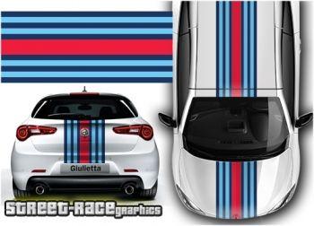 Alfa Romeo Martini style 'over the top' racing stripes