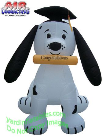 Air Blown Inflatable Graduation Dog Puppy | Decor ideas ...