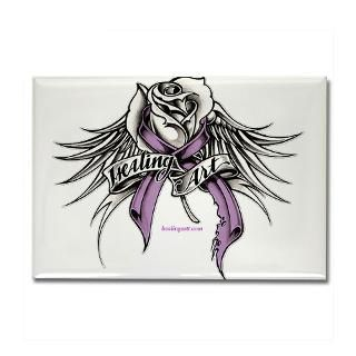 cancer ribbon tattoos with wings   Healing Art Rose with wings and ribbon : Skeletons in the Closet