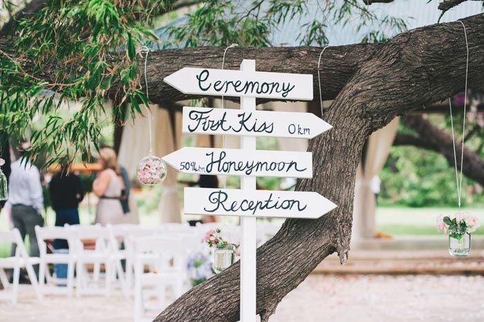 #Wedding #Ceremony sign featured in Chloe & James's Western Australian Wedding at modernwedding.com.au // Photography by Ben Yew