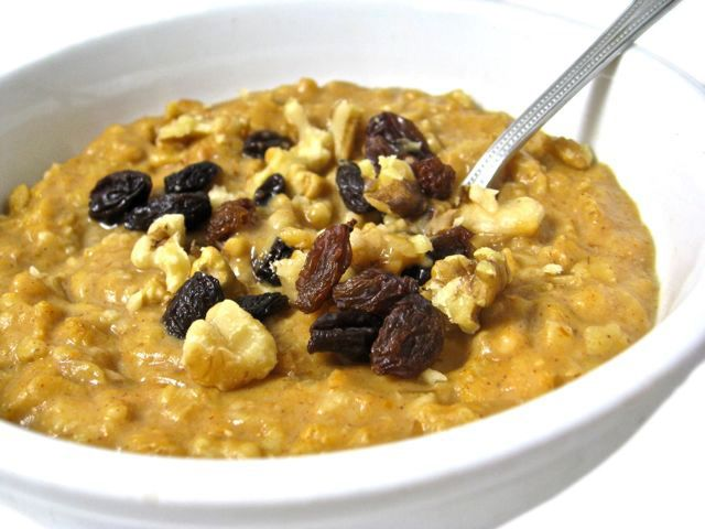 Skinny Pumpkin Pie Oatmeal with Weight Watchers Points | Skinny Kitchen