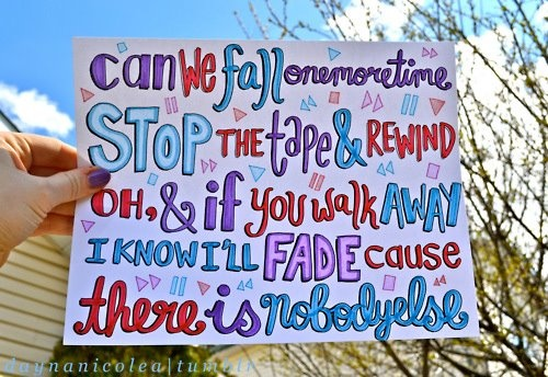 Can we fall one more timee , stop the tape and rewind ♥.