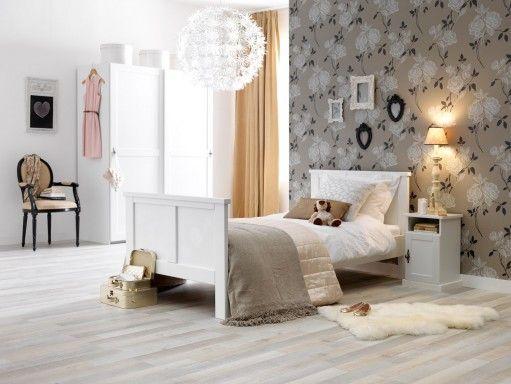 glamorous behang in romantische meisjeskamer wallpaper used at ...