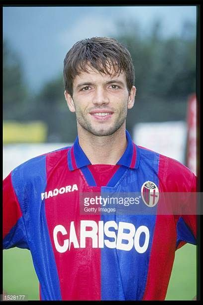 A portrait of Giuseppe Carbone of Bologna taken during the club photocall Mandatory Credit Allsport UK