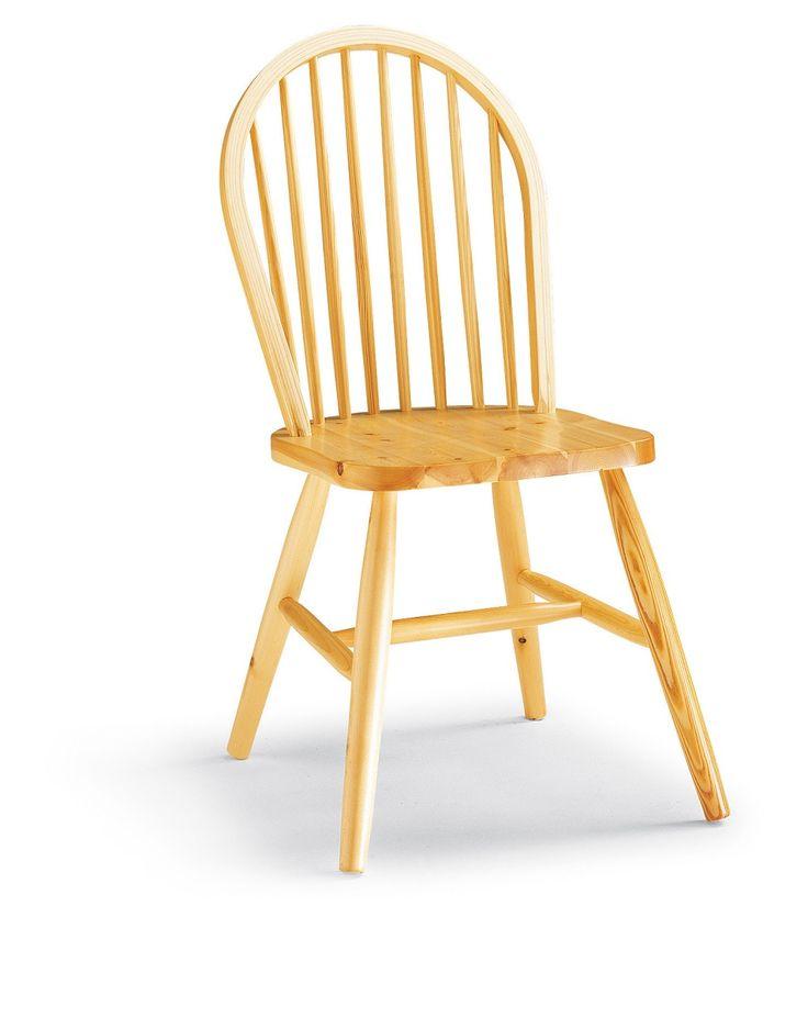 Sedia modello Windsor in legno massiccio. #Produzione e vendita arredamenti rustici Demar Mobili pino. #mobili #arredamenti #sedie www.demarmobili.it