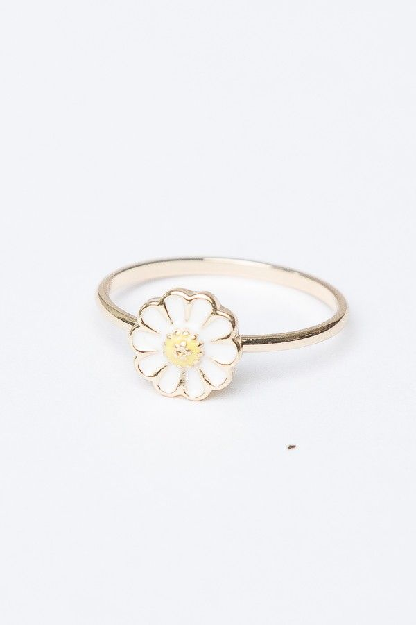 Brandy ♥ Melville | Gold Daisy Ring - Jewelry - Accessories