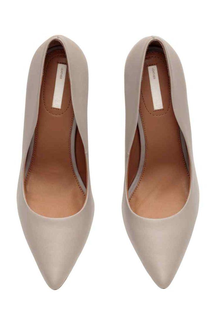 Кожаные туфли-лодочки   H&M