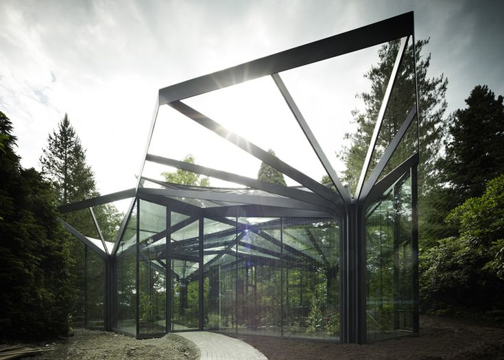 good architectural greenhouse #4: Greenhouse at Grüningen Botanical Garden by Buehrer Wuest Architekten