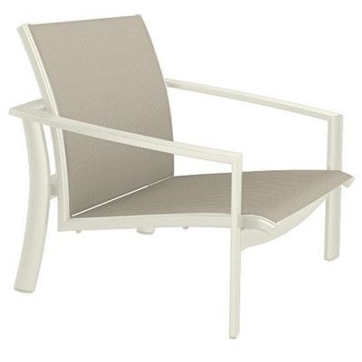 Tropitone KOR Relaxed Sling Spa Chair Seat Color: Sparkling Water, Frame Finish: Parchment
